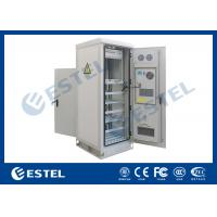 Quality Temperature Control Custom Made Antitheft Outdoor Telecom Cabinet With Front Door And Back Door for sale
