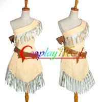 China Wholesale Cowgirl Indian Costumes Micro Suede Brown Pocahontas Indian Princess Dress for Halloween Christmas XXS to XXXL on sale