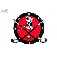 China Twill Custom Embroidered Logo Patches , Round Shape Embroidered Hockey Patches on sale