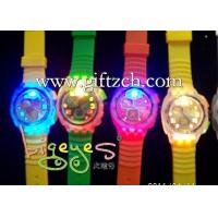 Quality Colorful Shiny Flash Light Up LED Silicone Watch for sale