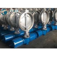 """Quality Carbon Steel Pneumatic Triple Eccentric Butterfly Valve Wafer Type Size Rating 2"""" To 60"""" for sale"""