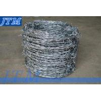 China BWG14x14 or BWG16x16 with1.6 mm 2.1mm 2.5mm wire diameter) electric / hot dipped galvanized barbed wire on sale