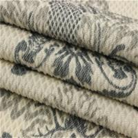 Quality Comfortable Sofa Cloth Fabric Warp Teal Knitted Pattern Fabric for sale
