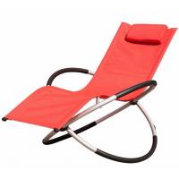 Quality Comfortable Other Furniture Folding Rocking Beach Chair With Pillow Steel Frame for sale