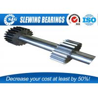 Quality Long Life Steel Spur Gear Shaft , Involute Spline Shaft With Blackened Oxide Finish for sale