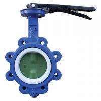 China EPDM Seated Manual Lug Butterfly Valves Wafer Type For Ship Building / Textile on sale