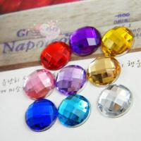 China Round Flat Back Resin Rhinestones 30mm Acrylic Crystal on sale