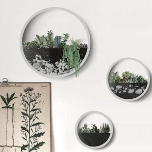 Creative Wall Vases Metal Iron Art Modern Artificial Flower Basket Plant Holder Hanging Wall Vases for Living Room Decor