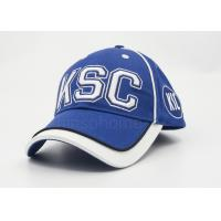 Quality Men / Women Sports Cotton Baseball Caps Embroidery , Blue With White Under Bill for sale