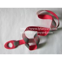 China Camping Water Bottle Holder Lanyard With Reflective Ribbon on sale