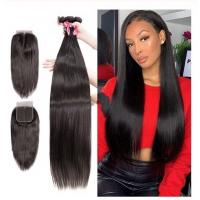 Quality Virgin Brazilian Human Hair Extensions / 3 Bundles Human Hair With 4 X 4 Lace Closure for sale