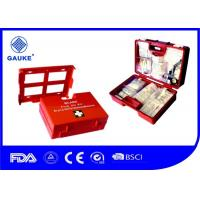 China Orange Color DIN Standard First Aid Kit Wall Mountable Durable Case on sale