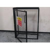 Quality Black Powder Coating Gas Cylinder Cages Flexible / Foldable Easy Install for sale