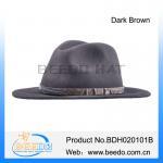 Quality Fashionable wool felt indiana jones fedora hats for sale for sale