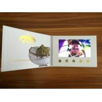 Buy cheap Custom Printing Artificial Style LCD Video Brochure / Lcd Video Business Cards product
