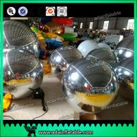 Quality Festivals Inflatable Event Mirror Ball With Sliver Color , Inflatable Mirrored Sphere for sale