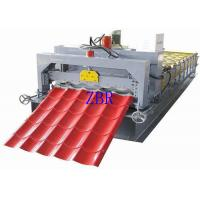 380V 3 Phase Glazed Tile Roll Forming Machine , Corrugated Sheet Making Machine