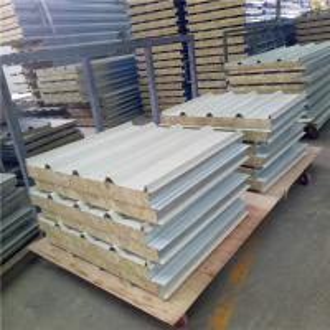 China 960mm building panels 50mm fireproof rock wool sandwich roof board with steel strip on sale