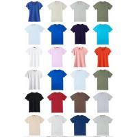 Buy cheap men & women's solid color summer Cotton Round collar slim design Tees stock size from wholesalers