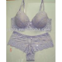 Quality Embroidered Convertible Fashionable Lace Breathable Adults Matching Bra And Underwear Sets for sale