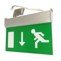 Quality Fire - Proof Battery Powered Double Sided Exit Signs Led Emergency Signs for sale