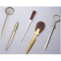 Quality Popular zinc alloy gold / silver metal letter opener for promotion for sale