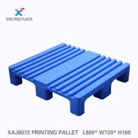 China Virgin HDPE groove surfaced single faced plastic pallet special use in printing industry with printing machine MANROLAND on sale