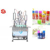 Quality Semi Automatic Aerosol Filling Machine / Equipments For Party Snow Spray , Party Strings for sale