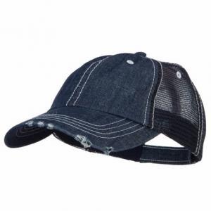 Quality Special Cotton Mens Trucker Caps , Denim Low Profile Cool Trucker Hats For Men for sale