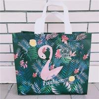 Quality Scrub Flamingo Clothing Store Bag Plastic Women's Non-woven Portable Plastic Bag Thicken Shopping Bag Customized for sale