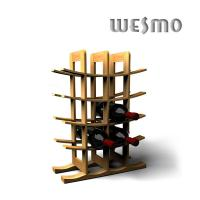 Quality Personalized Wine Accessories, WTB0306B Eco - Friendly Bamboo Wine Rack for sale