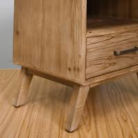 Quality Rustic One Draw Solid Wood Bedside Cabinets , Portable Bedside Night Tables for sale