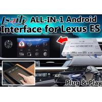 Quality Lexus ES Android Video  Interface Control by OEM  Knob , Touch Sensor Board ,  Mouse 4- Core A9 Processor for sale