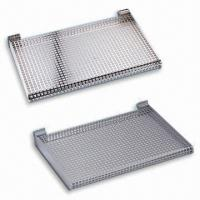 Quality Perforated Wall Shelves, Made of Metal, Available in Two Different Sizes for sale