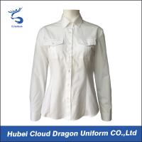 Quality Embroidered Long Sleeve Womens Shirts Police Uniform Shirt With 7 Button Placket for sale