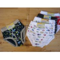 Buy cheap Colorful Comfortable Breathable Polyester / Cotton Organic Kids Underwear With Gear Design product