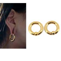 China BODY PUNK Piercing Earring Ring Ear Stretcher Expander Weights BCR Gold Captive Ball Closure Nose Septum Ring 2.5mm 4mm on sale