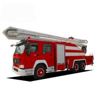Quality Howo 10cbm Aerial Ladder Fire Truck 6*4 10000Liters Emergency Rescue Water Tank for sale