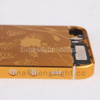 Gold back cover with decorative pattern replacement for iphone 5s