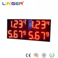Quality Red Digits Color Professional Led Price Display , Electronic Gas Price Signs X 4 Rows for sale