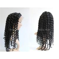China Healthy Deep Wave Curly Full Lace Human Hair Wigs For Black Women on sale