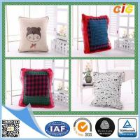 Quality Polyester Fabric Washable Car / Sofa Seat Cushion Covers With Filling for Home Decor for sale