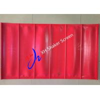 China Red Color High Tensioned Flip Flow Polyurethane Screen Panels for Coal Mining on sale