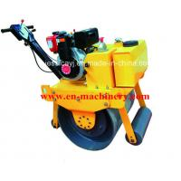 Quality Walk Behind Construction Machinery Single Drum Road Roller Of Concrete Tools for sale