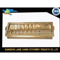Buy cheap Two Layer  Two Locks Chip Holder , Jeton Dealer Chip Tray With Locking Lid product