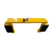 Quality Traffic Yellow Anti Sliding Trailer Wheel Clamp for sale