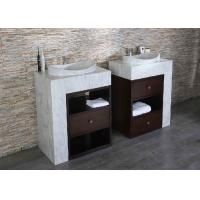 Quality Double Solid Surface Countertops , Marble Vanity Tops Surface Polished for sale