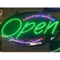 Buy cheap Bright Red Neon LED Open Sign Green Border Horiontal Shaped Lighted Signage from wholesalers