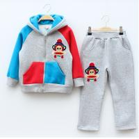Quality New fall sweater and pants boy hit color stitching for sale