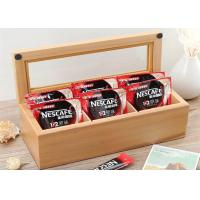 Buy Wood Glass Clear Top Tea Bag Presentation Box  , Coffee Wooden Tea Storage Box at wholesale prices
